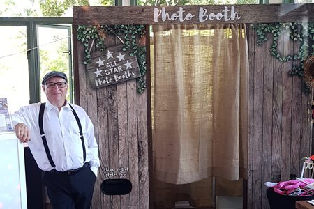 Rustic Photo Booth Hire at The Rocks Yandina a great Wedding DJ Hire Add On